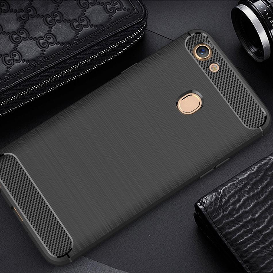 Flexi Carbon Fibre Tough Case - Oppo A73 / F5 (Black)